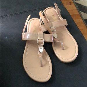 Champagne back strap sandals